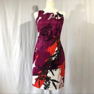 T Tahari Petite Sleeveless Print Sheath Dress